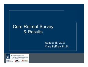 Core Retreat Survey & Results - Case Western Reserve University ...