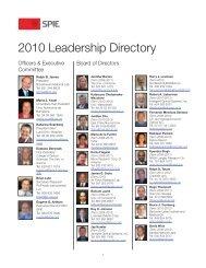 2010 Leadership Directory - DTU Orbit