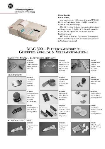 MAC 500 Zubehör german