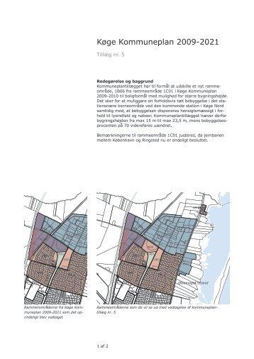 Kommuneplantillæg nr. 5 - Køge Kommune