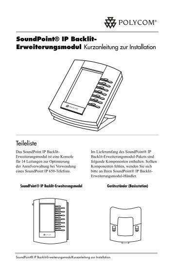 SoundPoint® IP Backlit- Erweiterungsmodul ... - Polycom