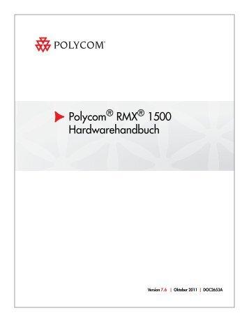 RMX 1500 Hardware Guide.book - Polycom