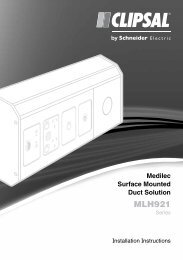 Installation Instructions - F2369/01 - MLH921 Series ... - Clipsal