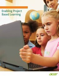 Enabling Project Based Learning - Acer