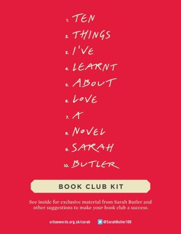 Download the Ten Things I've Learnt About Love ... - Penguin Group