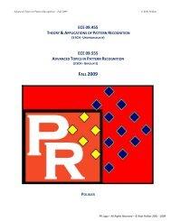 Syllabus - ECE 504.04 Pattern Recognition - Rowan