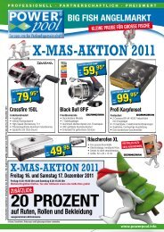 X-Mas-Aktion 2011 - BIG FISH Angelmarkt Pforzheim