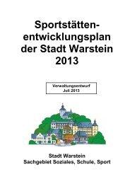 Sportstättenentwicklungsplan - Warstein