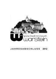 J A H R E S A B S C H L U S S     2012 - Warstein