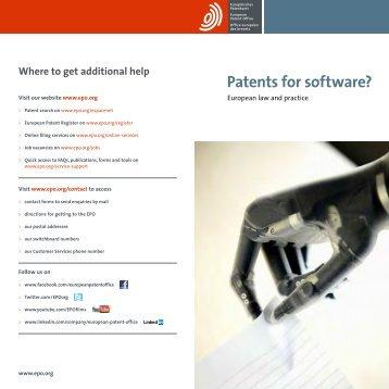 Patents for Software patents_for_software_en.pdf - WBC-INCO Net