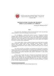 ERZÄHLTECHNIK UND SPRACHE IM ROMAN ... - Fırat Üniversitesi
