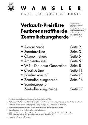 Zentralheizungsherde - Wamsler GmbH