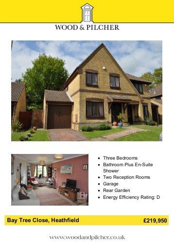 Bay Tree Close, Heathfield £219,950