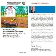 Dichtheitsprüfung privater Abwasserleitungen ... - Stadt Wuppertal