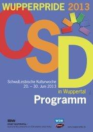 Das Programm - Stadt Wuppertal