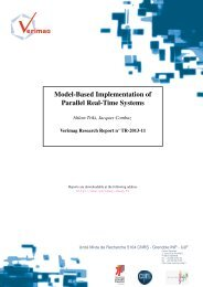 Model-Based Implementation of Parallel Real-Time Systems - Verimag