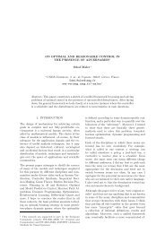 On Optimal and Reasonable Control in the Presence of Adversaries