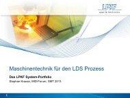 Krause, S. - Maschinentechnik für den LDS‐Prozess - 3-D MID