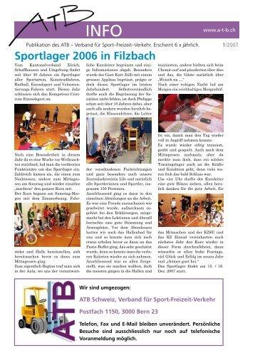 Nr. 1 - Februar 2007 - ATB Schweiz, Verband für Sport-Freizeit ...