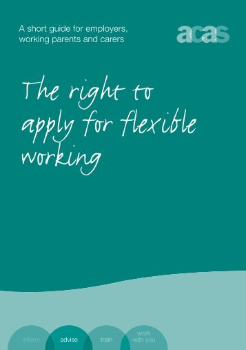 The Right to Apply for Flexible Working - Acas