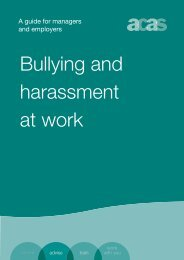 Bullying and harassment at work: a guide for managers and ... - Acas