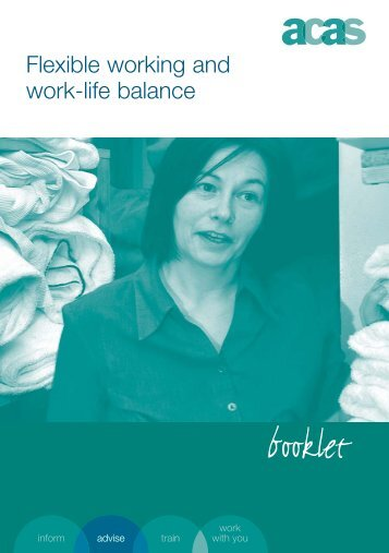 Flexible working and work-life balance - Acas