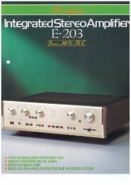 Integrated StereoAmplifie - Accuphase