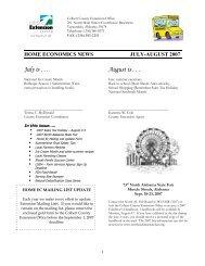 HOME ECONOMICS NEWS - Alabama Cooperative Extension System
