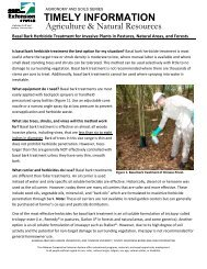 Basal Bark Herbicide Treatment for Invasive Plants in Pastures ...