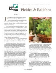 Pickles & Relishes - Alabama Cooperative Extension System