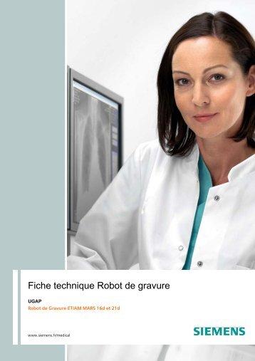 Fiche technique Robot de gravure - achats-publics.fr