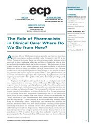 The Role of Pharmacists in Clinical Care: Where Do We Go from ...