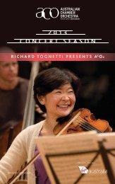 Download the program - Australian Chamber Orchestra