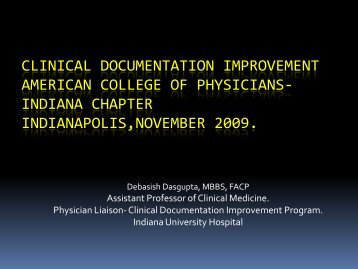 Clinical Documentation Improvement - American College of ...