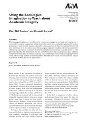 Using the Sociological Imagination to Teach about Academic Integrity