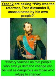 """Year 12 are asking """"Why was the reformer, Tsar ... - Active History"""