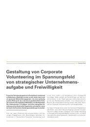 Gestaltung von Corporate Volunteering im ... - bei actori