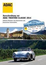 Ausschreibung zur ADAC TRENTINO CLASSIC 2014