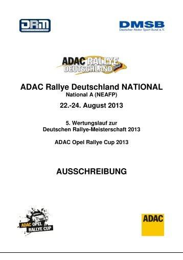 Deutschland National Ausschreibung.pdf - ADAC Rallye Deutschland