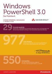 Windows PowerShell 3.0 Das Praxisbuch *978-3 ... - Addison-Wesley