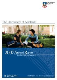 Financial Statements 2007 - University of Adelaide