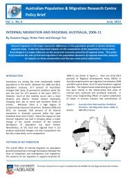Internal Migration and Regional Australia - University of Adelaide