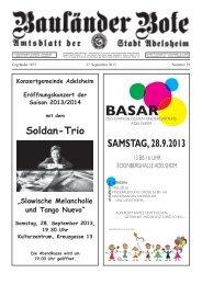 SAMSTAG, 28.9.2013 - Adelsheim