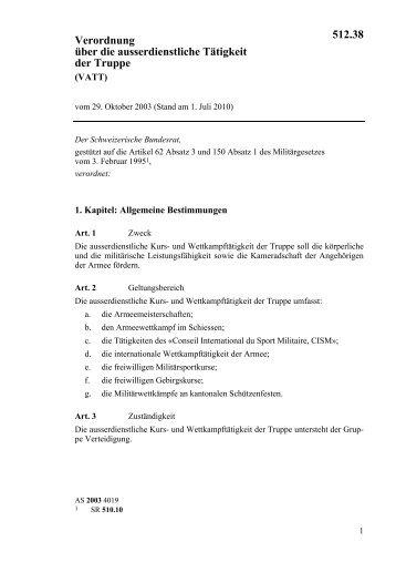 Verordnung über die ausserdienstliche Tätigkeit der ... - admin.ch