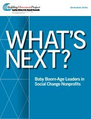 Baby Boom-Age Leaders in Social Change Nonprofits