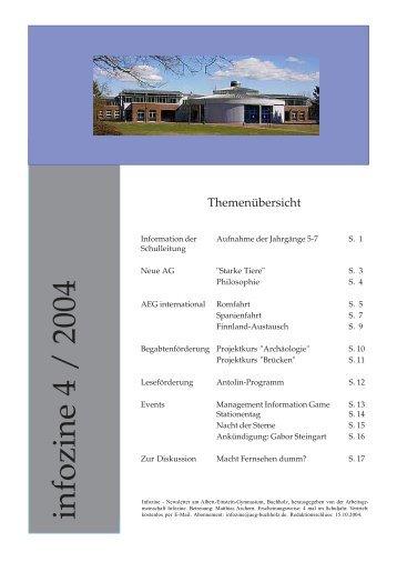 infozine 4 / 2004 - Albert Einstein Gymnasium