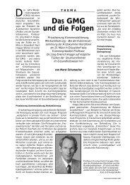 Das GMG und die Folgen - Ärztekammer Nordrhein