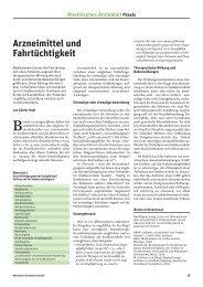 Arzneimittel und Fahrtüchtigkeit - Ärztekammer Nordrhein