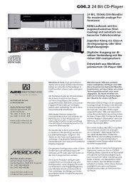 Meridian G07 Datenblatt