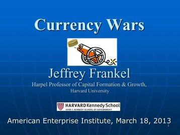 Jeffrey Frankel Presentation - American Enterprise Institute